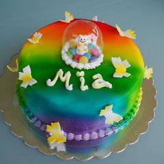 Regenbogen Geburtstagstorte