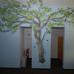 fertiger Lebensbaum mit versteckten kleinen Bewohnern