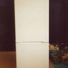 großer Kühlschrank ohne Bemalung