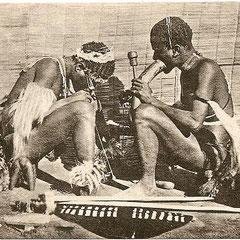 Fumeurs de chanvre africain au XIXème siècle
