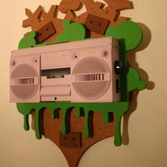 BoomCrest - Sprühlack auf Holz, 80 x 65 cm