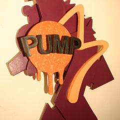 Pumps not dead  - Sprühlack auf Holz, 95 x 70 cm