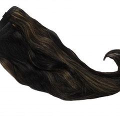 Artikel:1093-01 // Farbe: schwarz-blond gesträhnt // Tressenlänge: 40 cm // verarbeitete Tressenbreite: 1,00 m // Preis:  99,90 Euro