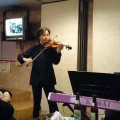 "JR九州""ななつ星""で演奏されている大迫氏(高志会会員)も参加して頂きました。"