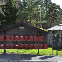 Sponvika, 01.09.2018, die Briefkästen der Häuser um unsere Ferienhütte