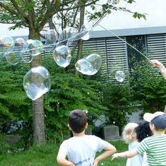 Experimente in den Ferien: Seifenblasen bedeuten jede Menge Physik und Chemie. Ausserdem Spaß pur!