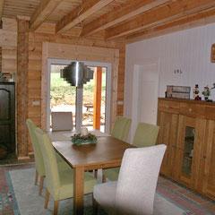 Wohnzimmer im Blockhaus