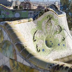 Decoració del banc del Park Güell, 2014. Fotografia: José Mª Sancho Aguilar
