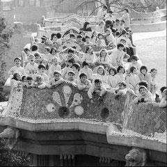 Park Güell. Anys 70. Fotografia: Colita