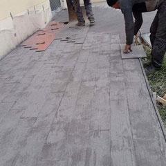 Terrasse en béton imprimé à Tremblay en France (93290)