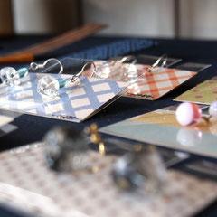 倉敷蜻蛉玉工房・MABOさんのガラスのアクセサリー