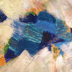 Blauer Stein, 2014, Acryl auf Papier, 60 x 50 cm
