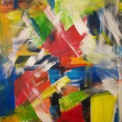 Farbenrausch, 2013, Acryl auf Leinwand, 90 x 120 cm