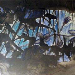 Brombeerzweig V, 2015, Aquarell und Tusche auf Papier. 30 x 20 cm