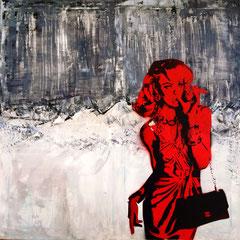CANDICE 333/RED | acryl auf leinwand | 70x70 cm
