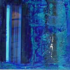 Acrylverf, linnen, foto op MDF