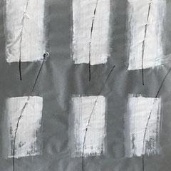 Verf en stift op transparant paper