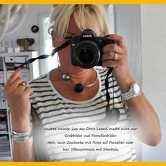 Andrea Weinke-Lau aus Gross Laasch fertigt Grabbilder und Porzellanbilder, Silberschmuck als Hobby