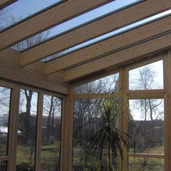 Wintergarten aus Holz-Aluminium (Privathaus in der Eifel)