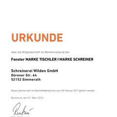 Schreinerei Wilden GmbH Fenstermarke Tischler I MARKE SCHREINER