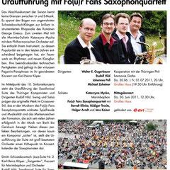 Konzert Erfurt Uraufführung