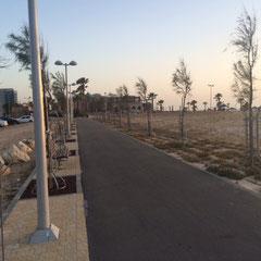Route à traverser pour aller à la plage