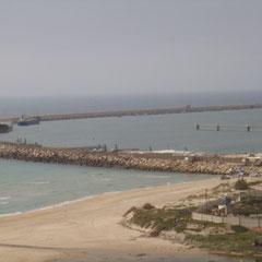 Vue sur le port d'Ashdod