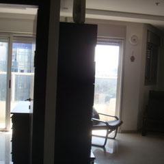 2 baies vitrées, séjour et chambre