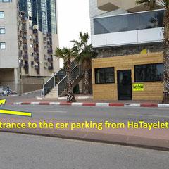 accès de l'immeuble par le Parking