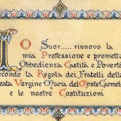 Professione dipinta su pergamena da Sr Gabriella - maddalenadepazzi.jimdo.com