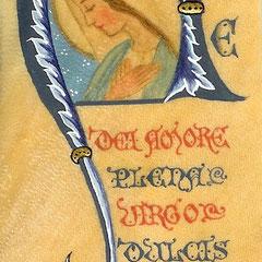 Pergamena segnalibro dipinta da Sr Gabriella - maddalenadepazzi.jimdo.com