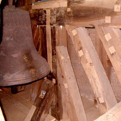 Sanierung am Glockenstuhl