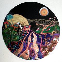 Gérodi - diam 50cm - 2009 - Pastels Gras et Ors - Toute reproduction interdite