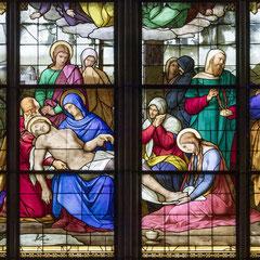 Ausschnitt aus dem Beweinungsfenster