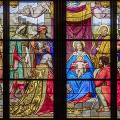 Ausschnitt aus dem Anbetungsfenster