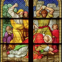 Ausschnitt aus dem Stephanusfenster