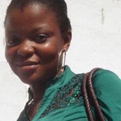 Hornella Mpolo - wird zusammen mit Radjabu Shabani für den Aufbau und den Betrieb des InternetCafé's zuständig sein.
