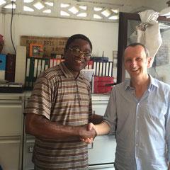 """Pater David sagt: """"Ich freue mich sehr über eure Unterstützung für unsere Einrichtung und bedürftige Kinder im Kongo. Mein herzlicher Dank gilt euch allen, verbunden mit den besten Wünschen für die Zukunft!"""""""
