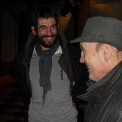 Augustin avec un des propriétaires