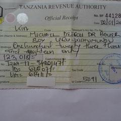 Für meine Geschenke, zumeist gebrauchte Konsumgüter, mußte ich zu ersten Mal Einfuhrsteuer zahlen !