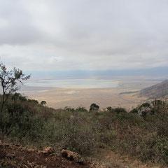 Der Ngorongorokrater im Juli.