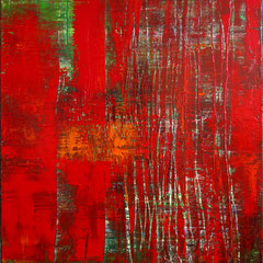 """""""Wunschblume"""", 100 x 80 cm, Acryl/Mischtechnik auf LW,"""