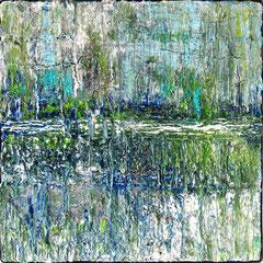 """""""Heilstrom I"""", 50 x 50cm, Acryl/Mischtechnik auf LW,"""