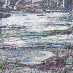 """""""Winterweide I"""", 39 x 39 cm, Acryl/Mischtechnik auf Museo"""