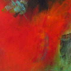 """Heidenblut"", 140 x 95 cm, Acryl auf LW"
