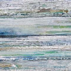 """""""Heilstrom"""" II, 30 x 50cm, Acryl/Mischtechnik auf Holzkörper,"""