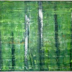 """""""Waldgarten"""", 120 x 160 cm, Acryl/Mischtechnik auf LW,"""