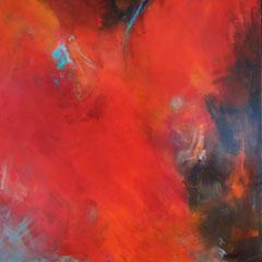 """Karmin"", 140 x 100cm, Acryl auf LW, verkauft"