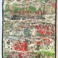 """""""Amber"""", 50 x 20 cm, Acryl/Mischtechnik auf Museo,"""