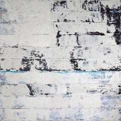 """""""Raum und Dialog"""", 140 x 100cm, Acryl/ Mischtechnik auf LW"""